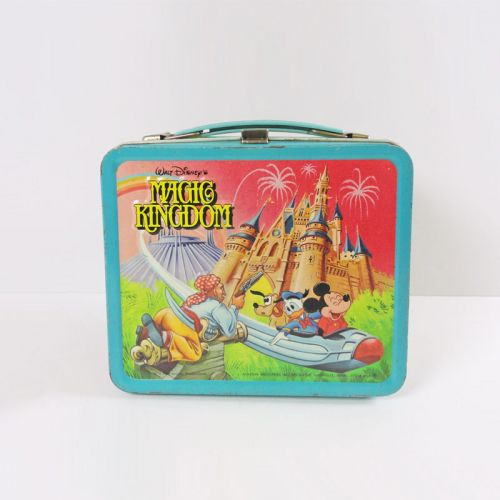Walt Disney Magic Kingdom 1979 Aladdin Metal Lunch Box