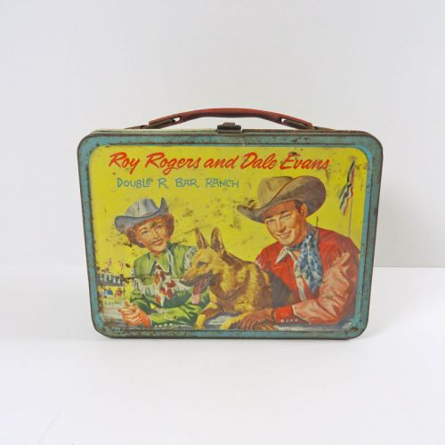 Roy Rogers Dale Evans Double R Bar Ranch Metal Lunch Box
