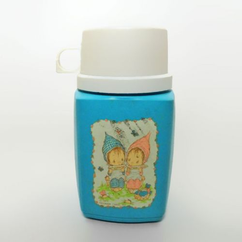 Precious Moments 1975 Hallmark Cards 8 oz. Blue Thermos