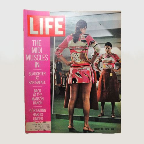 Life Magazine 8-21-1970 Midi Skirt and Manson Ranch