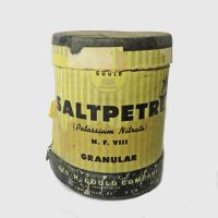 Gould Saltpetre Cardboard Container with Contents