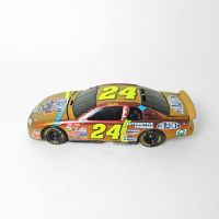 Jeff Gordon Gold Nascar No 24 Action Racecar Bank with Key