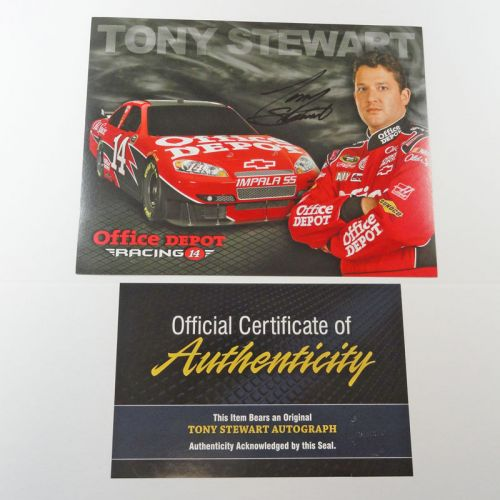 Nascar Tony Stewart No. 14 Office Depot Card with COA
