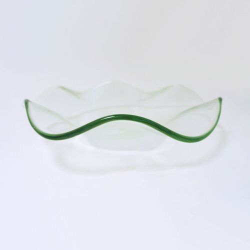 3-1/2 Wavy Glass Dish for Electric and Candle Oil Warmers