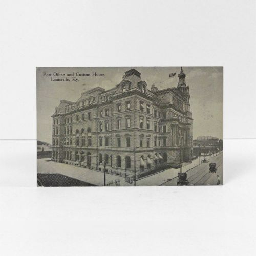 Post Office and Custom House Vintage Photo Postcard