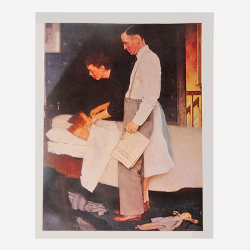 Norman Rockwell Vintage Print titled Freedom from Fear