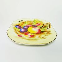 Montreal Vintage Plate with Handle and Fruit Design