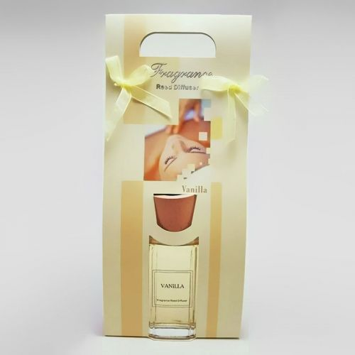 Vanilla Oil Reed Diffuser Gift Bag includes Reeds and Oil