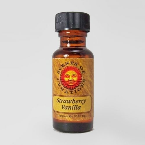 Strawberry Vanilla Scented Fragrance Oil - 0.5 Fluid Ounce