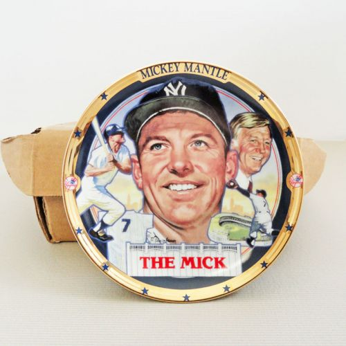 Mickey Mantle The Mick Hamilton Collection Decorative Plate