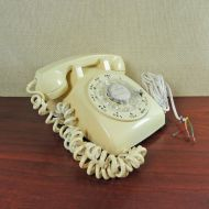 Western Electric 1970s Butter Vintage Rotary Telephone
