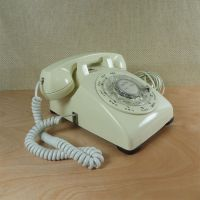 Western Electric Ivory Vintage Rotary Dial Telephone