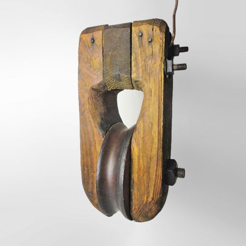 Pulley Wood with 6 inch Wheel Handmade